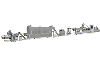 Extruded Baked Snacks, Direct Expanded Snacks Processing Line