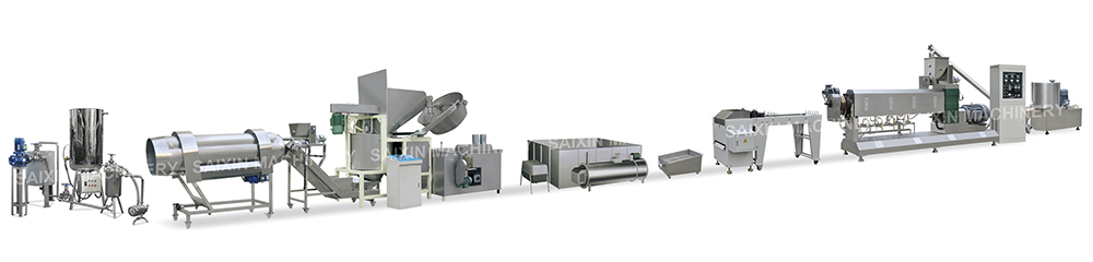 Extruded Fried Snacks, Fried Pellets Processing Line